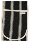 Mercara Stripe Black Oven Gloves