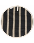Mercara Stripe Black Round Pad